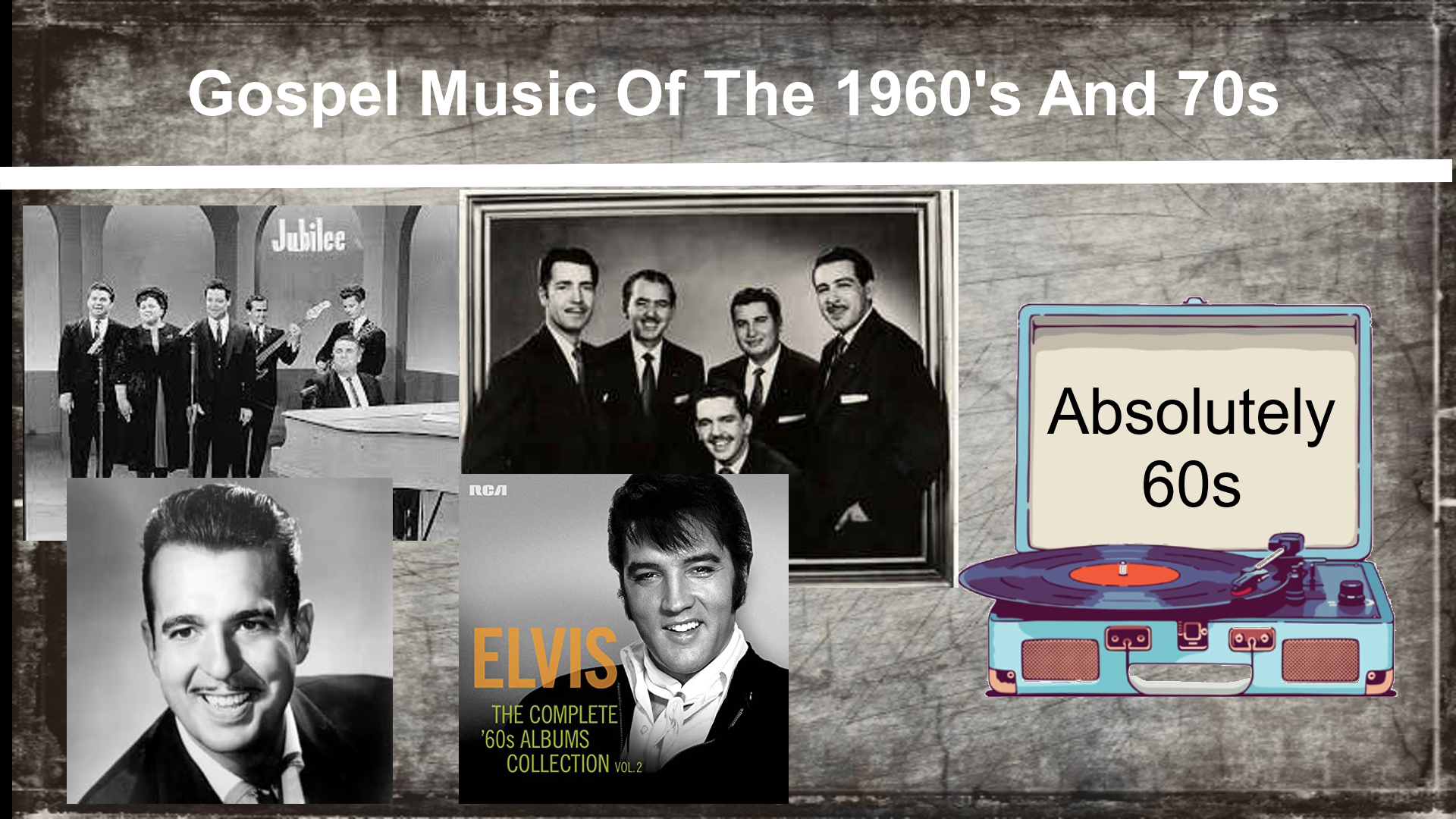 Gospel Music Of The 1960's and 70's
